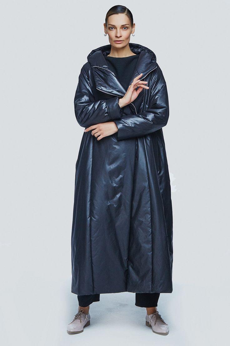 Купить Пальто с капюшоном на синтепоне две молнии от Lesel (Лесель)