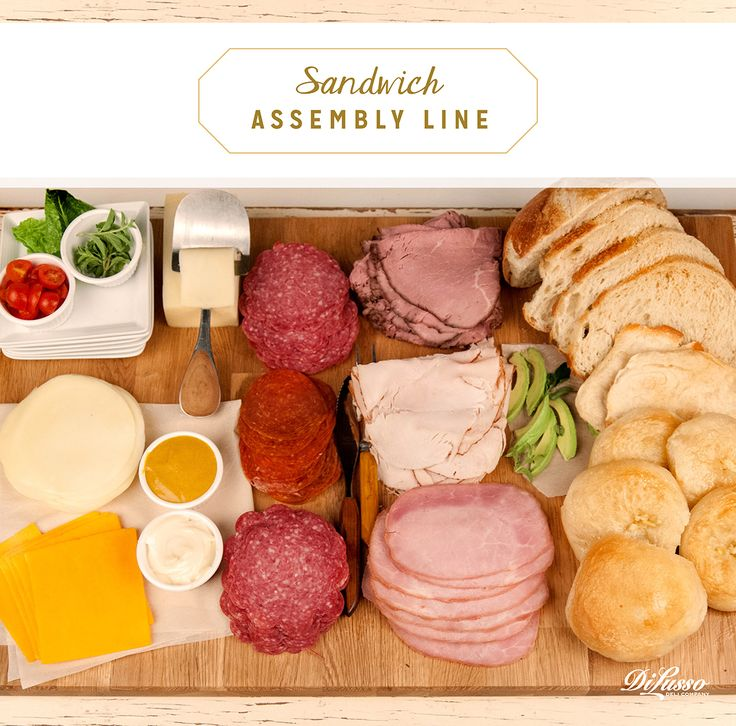"""Create a make-your own sandwich """"assembly line"""" that lets everyone fashion their own so there's no disappointing the pickier eaters."""