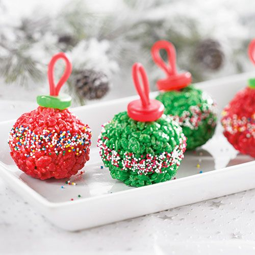 Marshmallow Treat Ornaments - The Pampered Chef® I love PC!! Shop now or join my team @ www.pamperedchef.biz/emileeskitchen, join me on Facebook Emilee's Pampered Chef Kitchen. Contact me to get some FREE :)