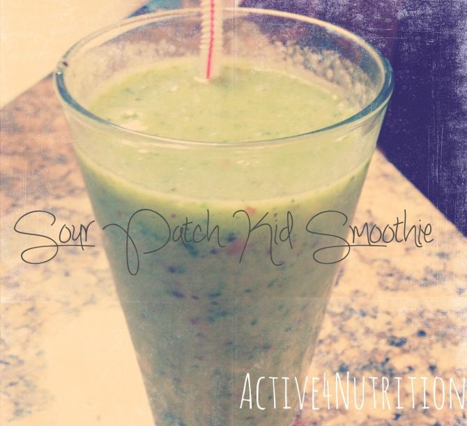 Sour patch kids Smoothie #Active4Nutrition