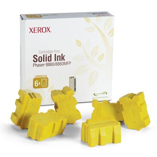 Xerox 108R00748 solid ink geel  |  De Xerox 108R00748 solid ink geel is speciaal ontworpen voor de Phaser 8860 en 8860 MFP. De 108R00748 solid ink geel drukt afbeeldingen levensecht af waardoor deze zeer geschikt is voor het afdrukken van foto's.