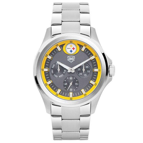 Pittsburgh Steelers Jack Mason Brand Alumni Multifunction Stainless Steel Watch - $159.99
