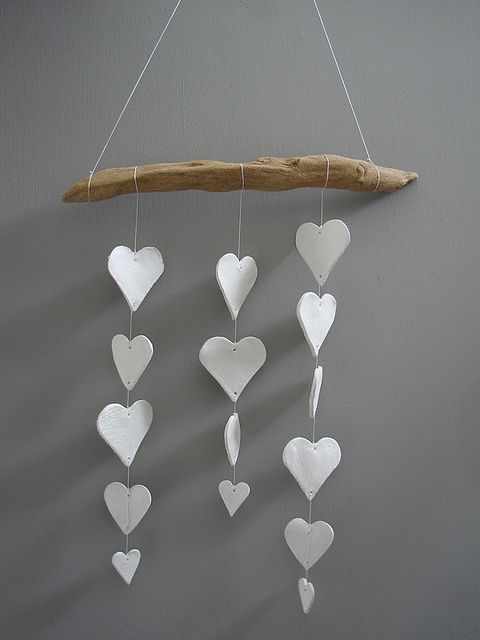 Clay Heart Mobile by Superduper
