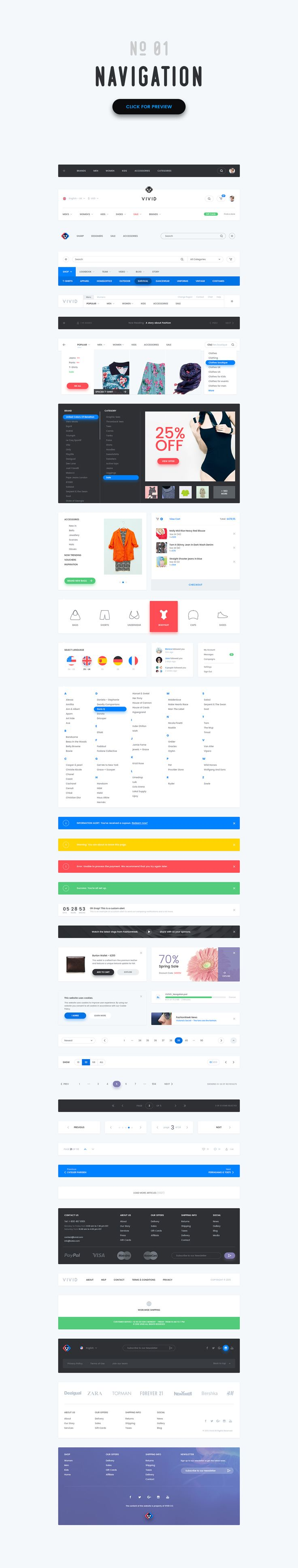 50%- Vivid - Soft Material UI Kit