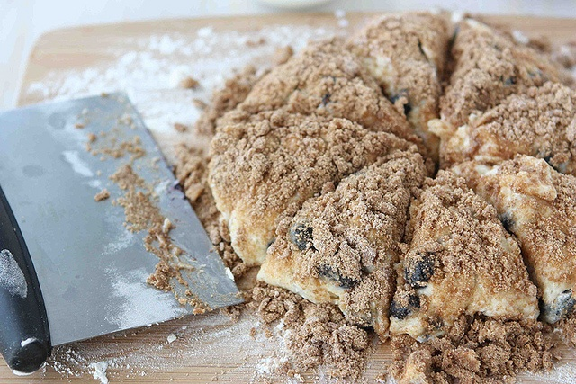 Streusel Blueberry Scone - not that fabulous.  Super sticky, spread way too much while baking.