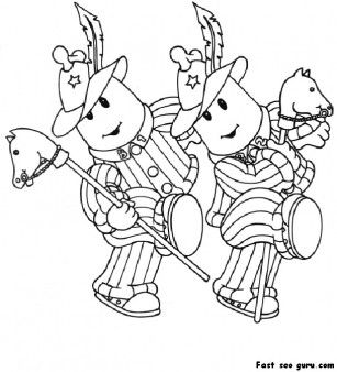Printable bananas in pyjamas coloring pages - Printable Coloring Pages For Kids