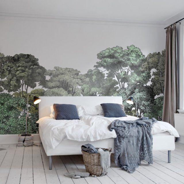 Papier peint panoramique forêt luxuriante, Rebel Walls