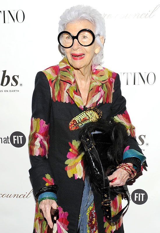 """#IrisApfel told Refinery 29: """"The best thing about getting old is that you don't have to worry about what you look like in a bikini!"""" -  Not caring about what other people think, priceless!"""