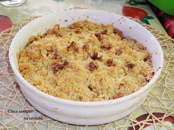 Cinco sentidos na cozinha: Crumble de pêssego