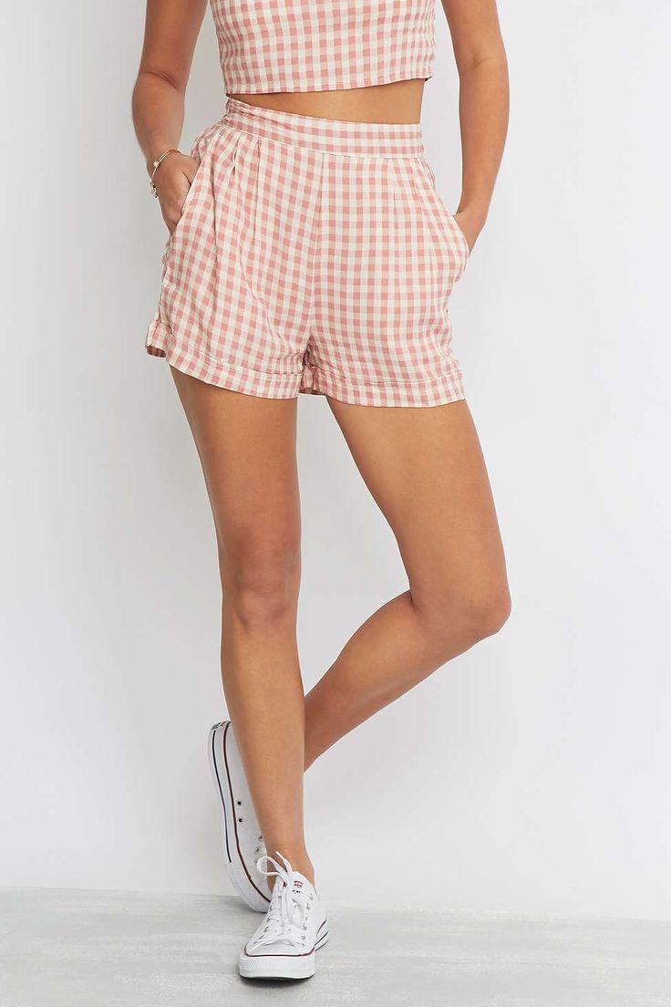 Urban Renewal Vintage Remnants Co-Ord Pink Gingham Shorts