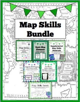 map skills bundle activities worksheets crafts posters more teaching geography map. Black Bedroom Furniture Sets. Home Design Ideas