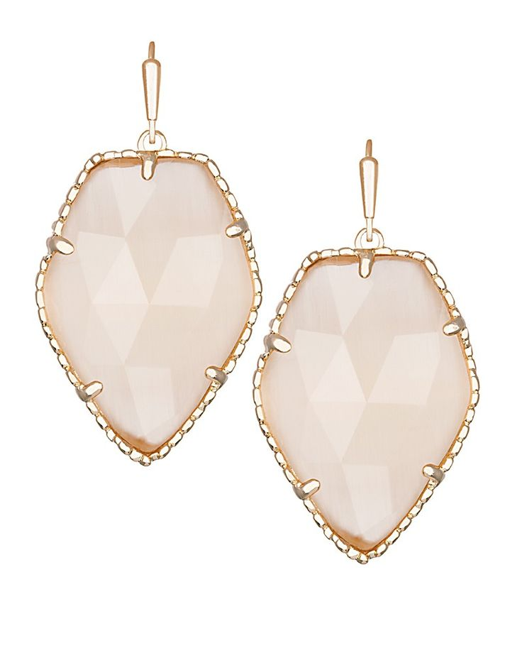 Corley Drop Earrings in Peach - Kendra Scott Jewelry. Coming October 15!