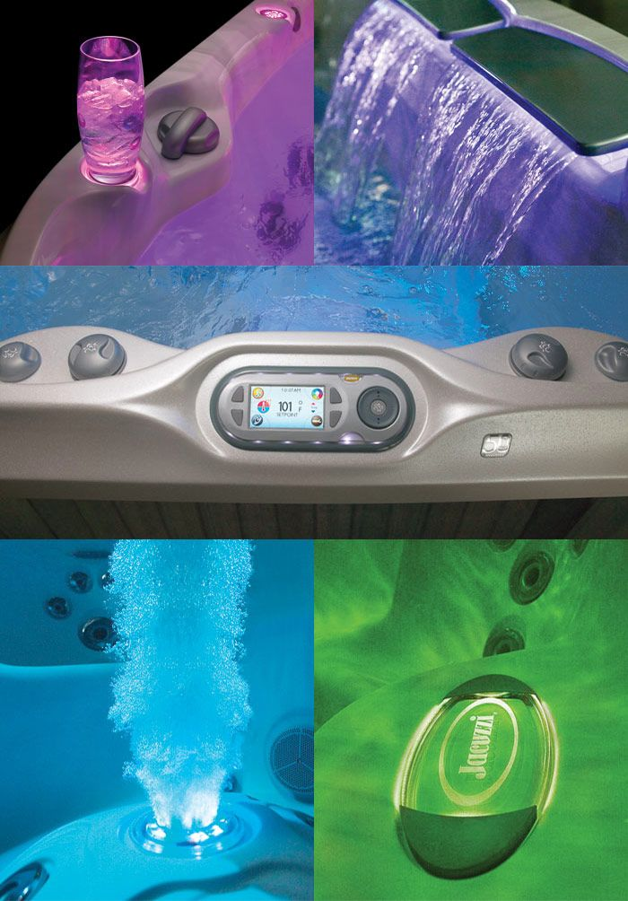 Some of the features available on J-400 Series. Come and visit Eden Spas Jacuzzi for one of the best hot tub selection in Prince George, BC.