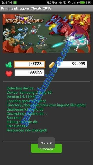 Most recent Knight and Dragons Cheats (Unlimited Gem and Gold)For full Knight & Dragons Cheats tool features list, click on ABOUT button after installDOWNLOAD HERE 100% Working Knight and Dragons Cheats and Hack For Android iOS (Unlimited pearl, gold) Knight and Dragons is the epic addictive RPG amusement created by Gree which you play and …