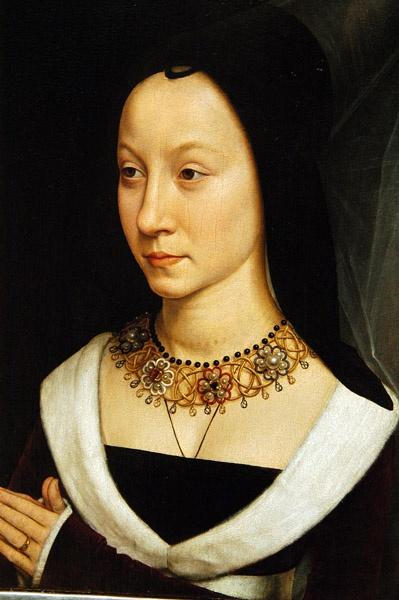 Hans Memling: Flemish school (1435-1494) - Maria Portinari (Maria Maddalena Baroncelli, born 1456) c 1470