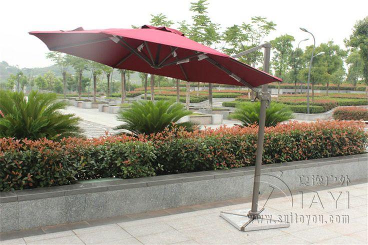 Dia 3 meter aluminum cantilever garden umbrella parasol cover patio sunshade 360 degrees rotation ( no stone base )