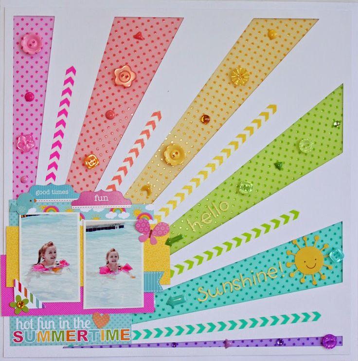 Doodlebug Design Inc Blog: Vellum: Rainbow of Colored Vellum Layout by Aimee Kidd.