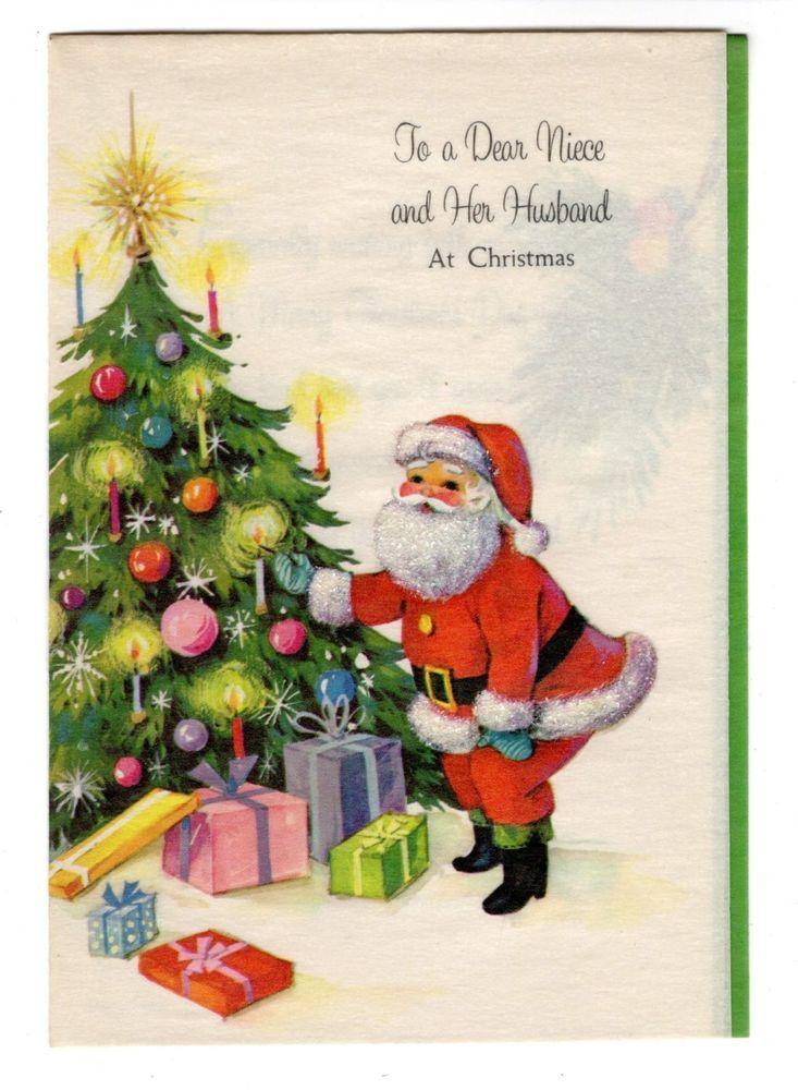 Vintage Unused American Greetings Christmas Greeting Card Santa Claus Tree Ebay Christmas Greetings Christmas Greeting Cards American Greetings
