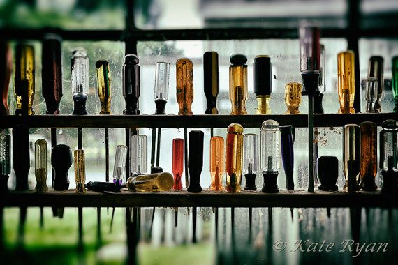 Still Life Photography Tool Shed Men Handyman, man-cave essentials by KateRyanFineArt, $45.00.  For that male (and female) handy-person, do-it-yourselfer / DYI in your life.