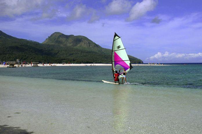 Windsurfing at White Island