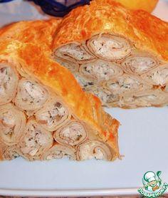 """Пирог """"Мясная избушка"""" - кулинарный рецепт"""