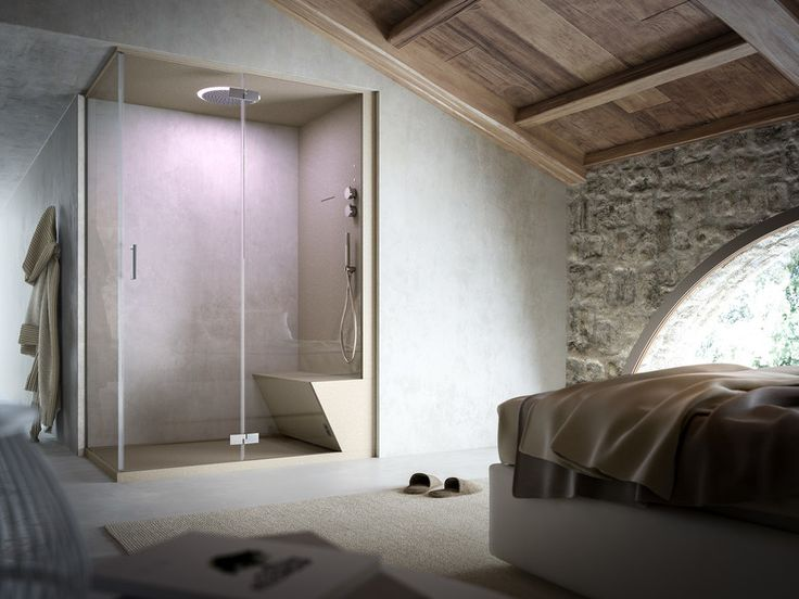 2 places corner steam shower cabin NONSOLODOCCIA | Corner shower cabin by Glass1989