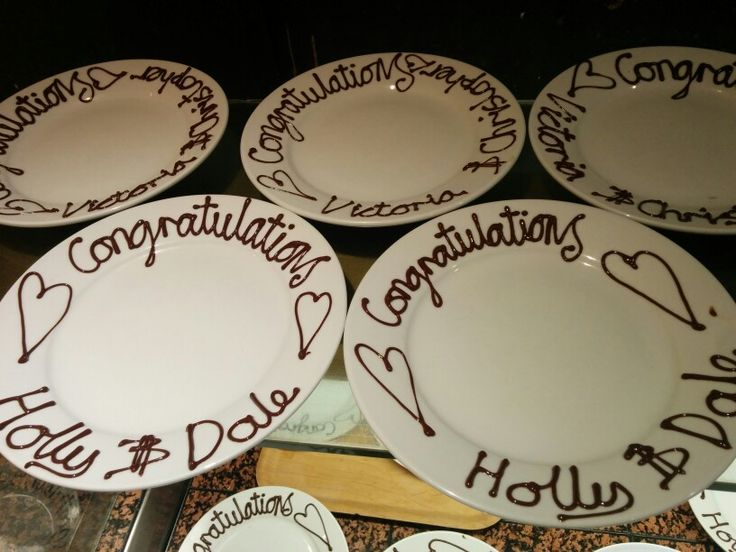 Our handwritten dessert plates for each and every wedding!