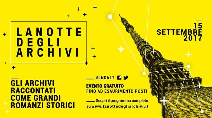 La Notte degli Archivi - Torino, 15 settembre 2017