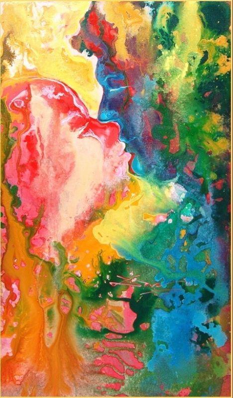 Eternal Love Artist -  Biswajit Das Medium: Acrylic on Canvas Available at www.easelbay.com