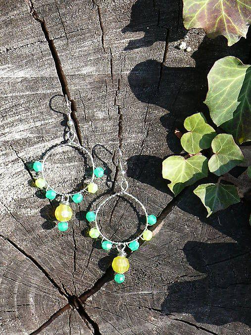 Sharon.handmade / Žlto-zelené kruhy