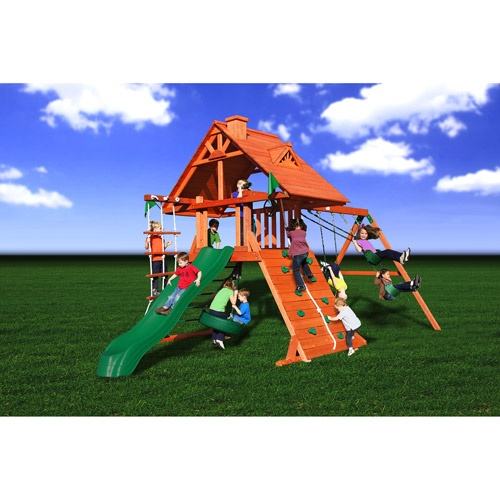Gorilla swing sets gorilla mountaineer treehouse swing for Gorilla playsets