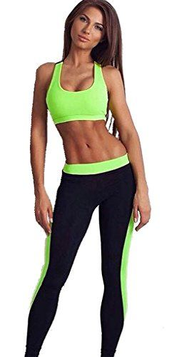 Women's 2 Piece Sports Suit Tights Yoga Exercise Pants Leggings Green-S... Size Details:S:bust:30″, waist:26″, hip:33.1″, Top Length:13″,Pant Length:36.6″M: bust:31.5″, waist:26.8″, hip:34.6″, Top Length:13.4″,Pant Length:37.4″L: bust:33.1″, waist:27.6″, hip:36.2″, Top.....http://bit.ly/2kuXhk7