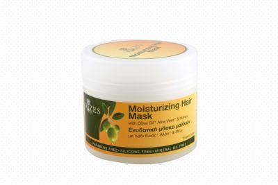 Hydraterend haarmasker met olijfolie, aloe vera en honing.