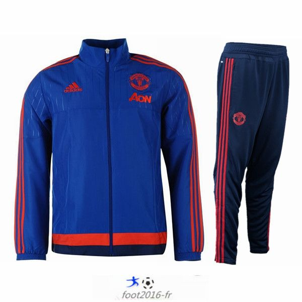 football Nouveau Veste Manchester United Bleu N98 Homme 2015 2016 shop