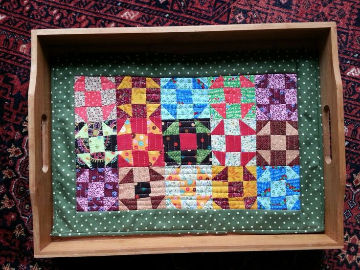 quilt for serving tray