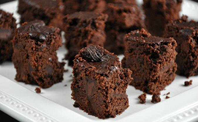 Slow Cooker Triple Chocolate Brownies from All Four Burners via Slow Cooker from Scratch