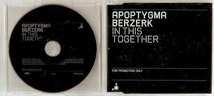 APOPTYGMA BERZERK In This Together 1 track Promo CD Single EU 2005
