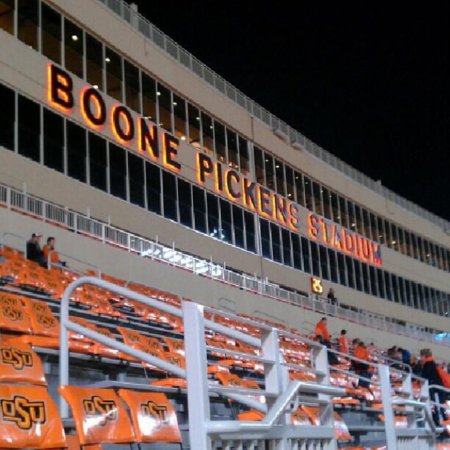 OSU Cowboy Stadium, God bless T. Boone.