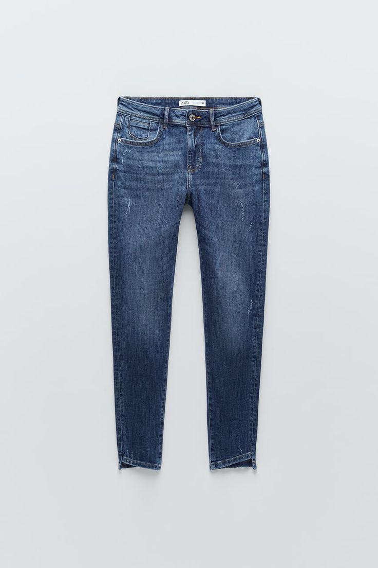 Spodnie Jeansowe Rurki Ze Srednim Stanem Z Kolekcji Z1975 Zara Polska Poland Mid Rise Skinny Jeans Skinny Jeans Mid Rise Jeans