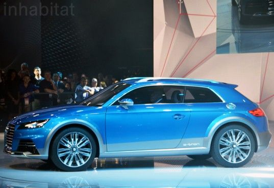 """Audi's Allroad Shooting Brake Concept is designed to handle """"light off-road conditions,"""" and as such it features a slightly raised suspension and large 19-inch wheels made from lightweight carbon-fiber reinforced polymer."""