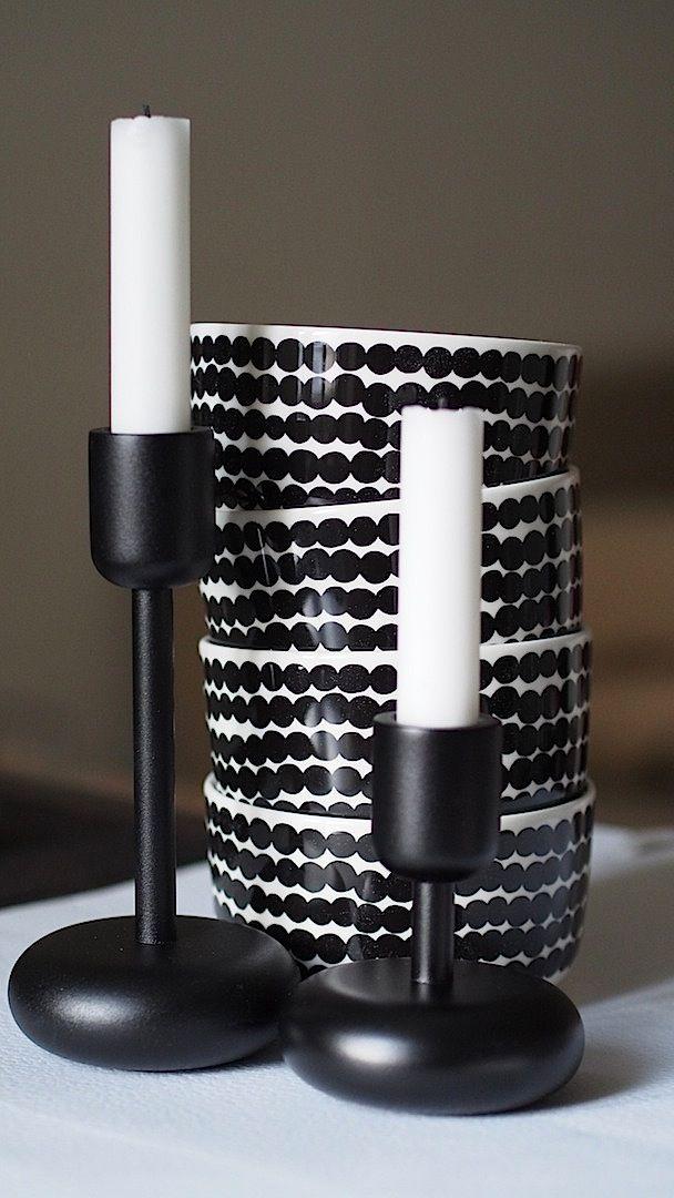 Iittala | Nappula Candleholders | Marimekko | Rasymatto Bowls