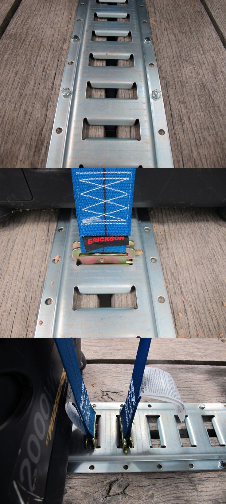 8' long E-Track with horizontal slots is perfect for installation in truck or trailer beds or on enclosed trailer walls. Provides tie down points for organization and securing cargo in your trailer!
