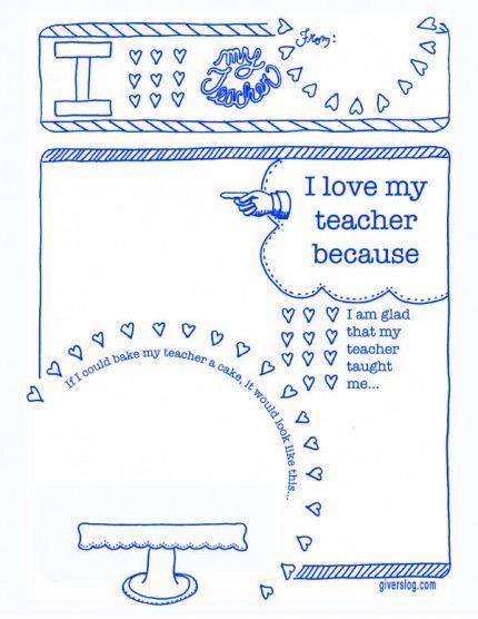 Printable Teacher Thank You Notes
