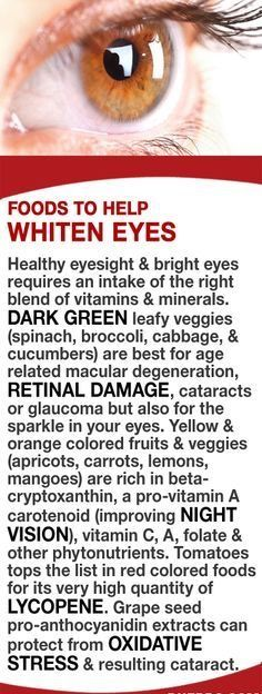 Foods to help whiten your eyes