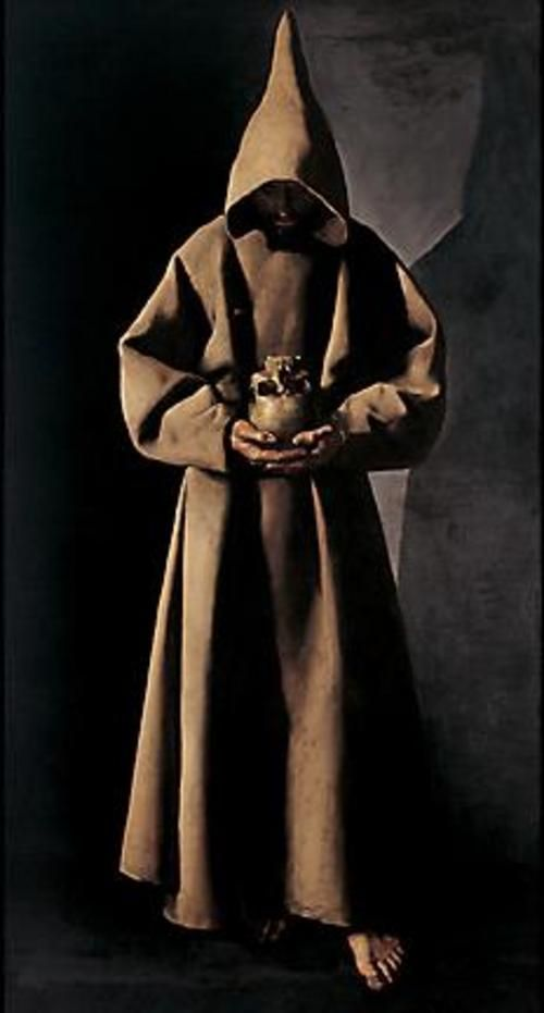 """Saint Francis of Assisi in his tomb"" // Francisco de Zurbaran (spanish baroque painter 1598-1664)"