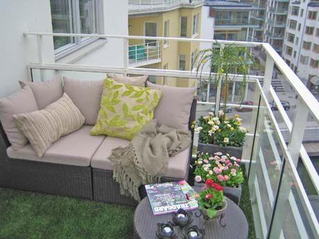 Skab et frodigt look med græstæppe på altanen