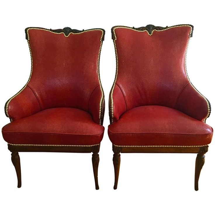 Pair Of Classic Grosfeld House Chairs In Shagreen Chairs