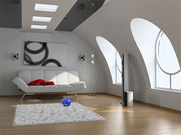 This is an attic? Great modern minimalist design.