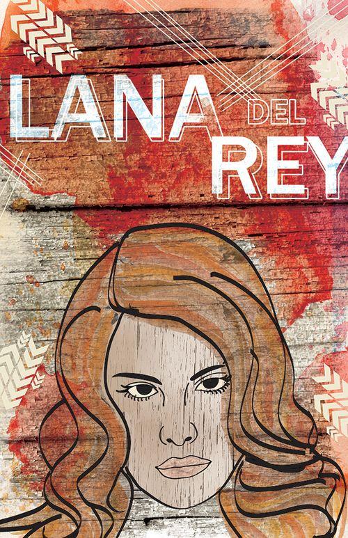 Lana Del Rey Artist: Jesse Kunerth Limited edition print