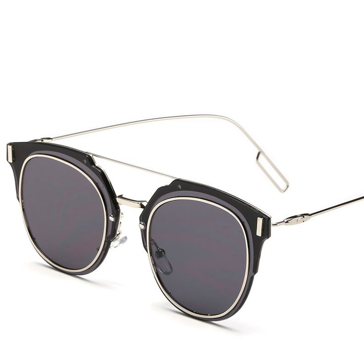 New 2017 Women Retro Sunglasses Gold Frame Fashion Woman Dark Glasses Popular Beautiful Female Sun Glasses